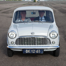 The car is one of the oldest Minis on the road today