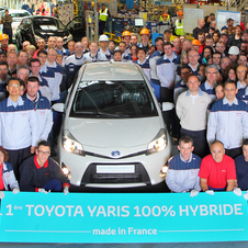 Yaris Hybrid enters production in France