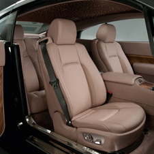 Coach doors open to the interior complete with Phantom-grade leathers and expanses of wood called Canadel Panelling
