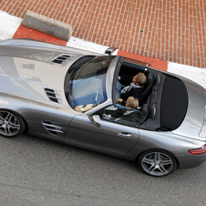 Häkkinen and Rosberg also drove around Monaco in an SLS convertible