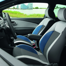 Interior upgrades include sport seats.