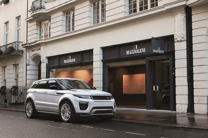 Evoque updates include new front bumper, larger air intakes, two new grid designs, full-LED adaptative headlights and new alloy wheel designs