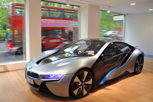 The i3 in the showroom has a full interior