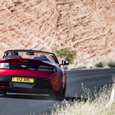Still the car is 20kg lighter than the previous V12 Vantage Roadster