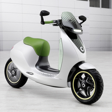 Styling for the eScooter takes the classic Vespa shape and modernizes it