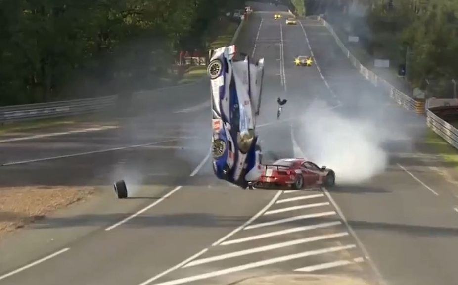 The Toyota crash was was horrific but both drivers were safe