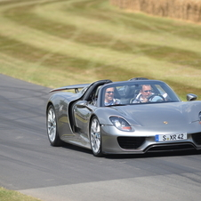 Porsche gave the 918 Spyder its UK debut at the Goodwood Festival of Speed