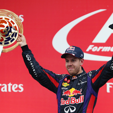 It's Vettel's fourth consecutive win in Korea