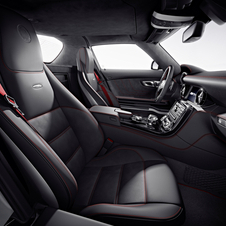The center of the seats are upholstered in Alcantara