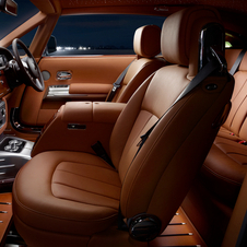 The interior is made from high-quality leather