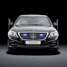 the vehicle features the same lines of the S-Class, as well as the same design of front and rear lights