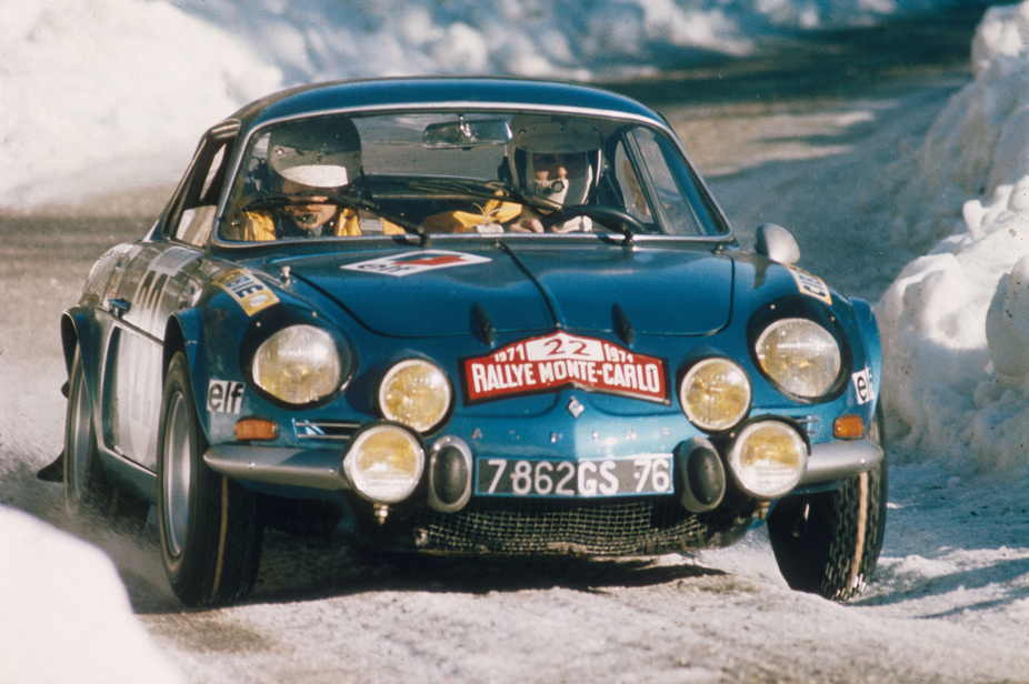 Renault is bringing an A110 that just raced in the Rallye Monte-Carlo Historique