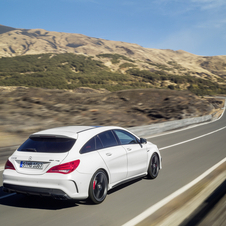 The CLA45 AMG Shooting Brake can reach 100km/h in 4.7 seconds and has a top speed limited to 250km/h