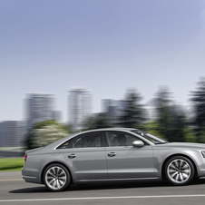 The profile of the A8 has a new chrome strip and black window trim