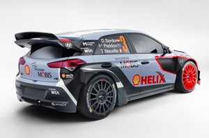 Equipped on the i20 WRC is the 1.6 liter engine turbo petrol with 300hp and 400Nm of torque