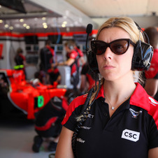 De Villota was still on her installation lap when the crash happened