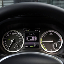 The Electric Drive gets unique gauges to show range and state of charge