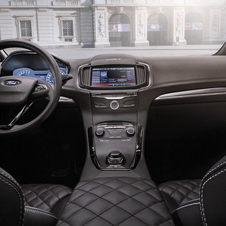 The interior of the S-Max Vignale has been fitted with quilted soft-touch leather seats and a leather-covered dashboard and centre console