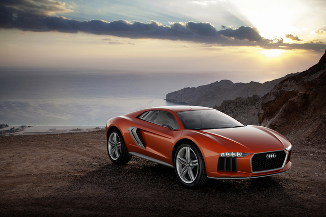 Audi's Nanuk concept started as the Italdesign Parcour concept in Geneva