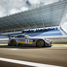 The AMG GT3 will be unveiled in Geneva with a matte gray livery