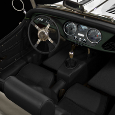 The interior gets black leather, a special steering wheel and chrome-trimmed gauges