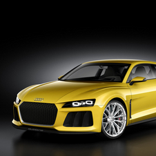 The car is said to fit between the R8 and RS4