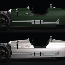 The Roadster is available with either the matte green color or a polished aluminum body