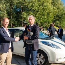 Nissan delivered the first group of Leaf's among the city's 1,000 EV order over the next three years