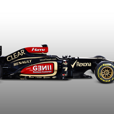 Lotus kept the stepped nose from last year's car