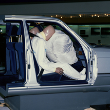 Mercedes introduced the production airbag on the W124 S-Class in 1981