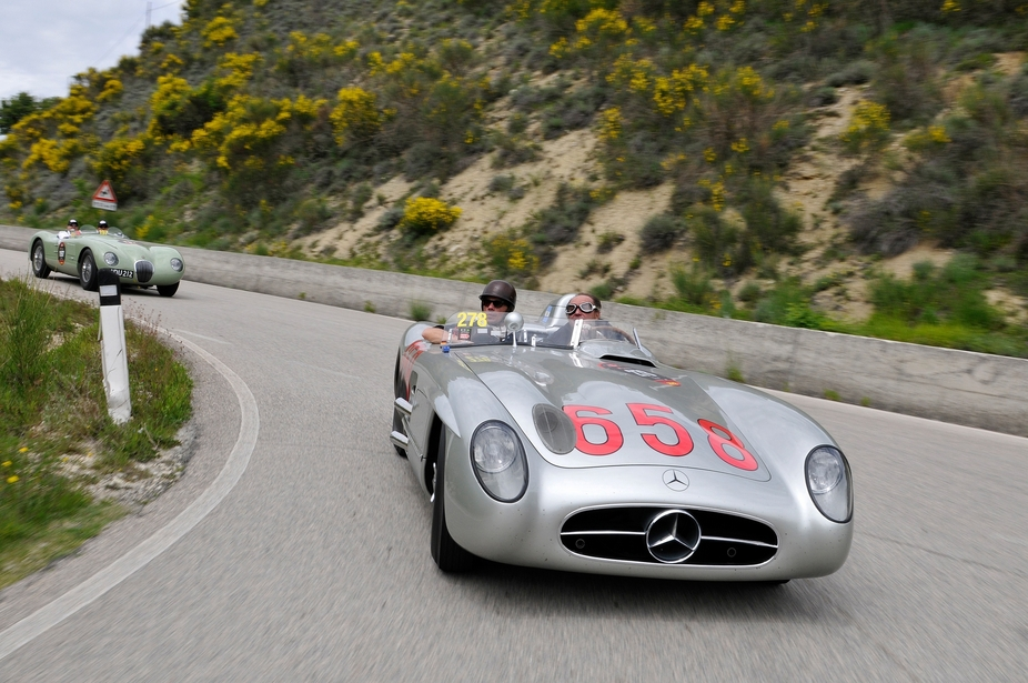 The 300SLR is one of the most iconic Mercedes of all time with its F1 chassis and more powerful engine