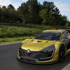The Renault Sport RS 01 has a prominent diamond that dominates the front of the vehicle
