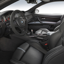 The interior has carbon fiber trim, black leather and Palladium leather armrests