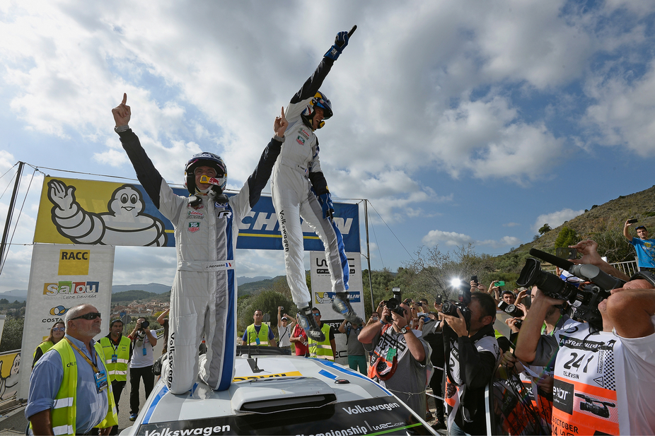 Ogier won the Rally of Catalunya and celebrated his second carrer title with Volkswagen