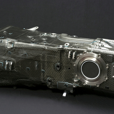 Audi developed a carbon fiber transmission case for its 900kg race car, a major technical innovation