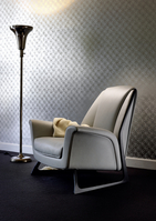 The chair is meant to look light and symbolize Audi design