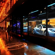 Fisker Karma Displayed in Harrods Window
