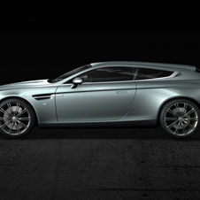 The exclusive Aston Martin has quite bold lines and creates some surprise with its new shapes and silhouette