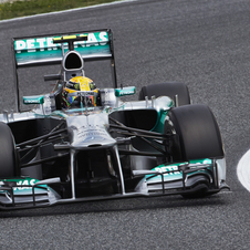 Mercedes and Pirelli tested for three days over 1,000km