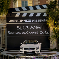 Mercedes will display a gold SL65 AMG at the Cinema Against AIDS Gala