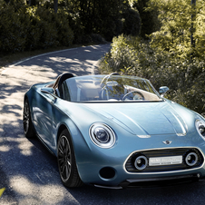 O Vision Superleggera é mais longo e mais largo do que o atual MINI Roadster