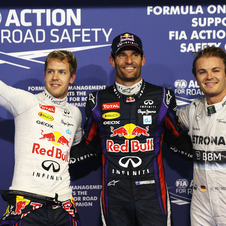Vettel dominated the race to give Red Bull command of the podium. Rosberg took the final rung