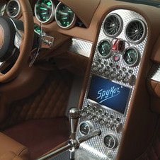 The B6 has Spyker's well known touches like the exposed gearshift and metal toggle switches