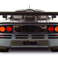 On the racing version, McLaren added a wing and rear diffuser