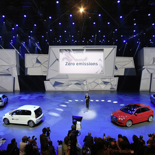 Volkswagen launched its e-Golf and e-Up electric models at the Frankfurt Motor Show
