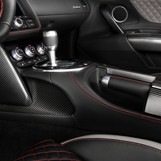 The interior of the R8 competition gets a matte carbon fibre treatment