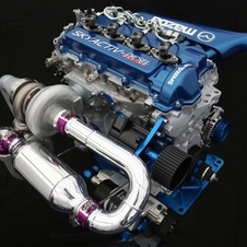 The engine is a 2.2 liter, four-cylinder turbocharged engine