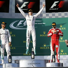 Hamilton and Vettel completed the podium in Australia