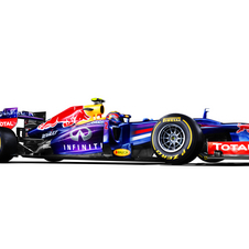 The RB9 gets a new livery for 2013