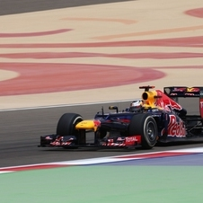 Vettel during qualifying in Bahrain